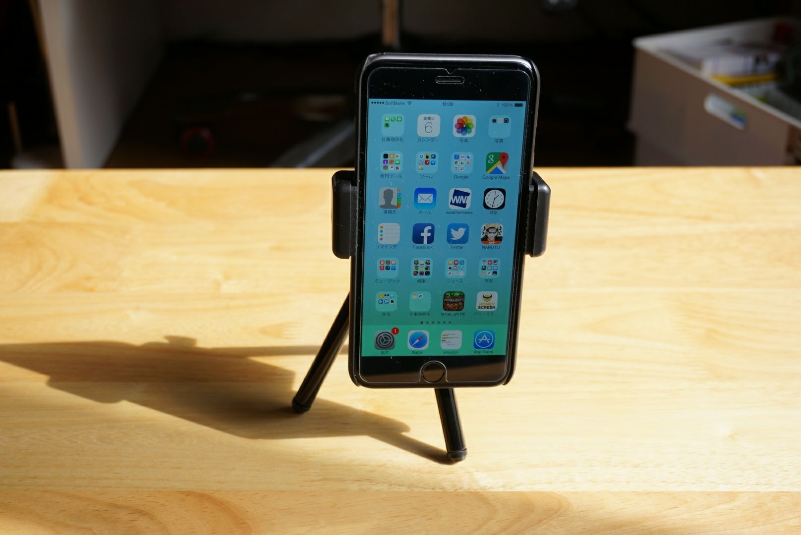 2WAY Mount iPhone6plus 三脚 縦