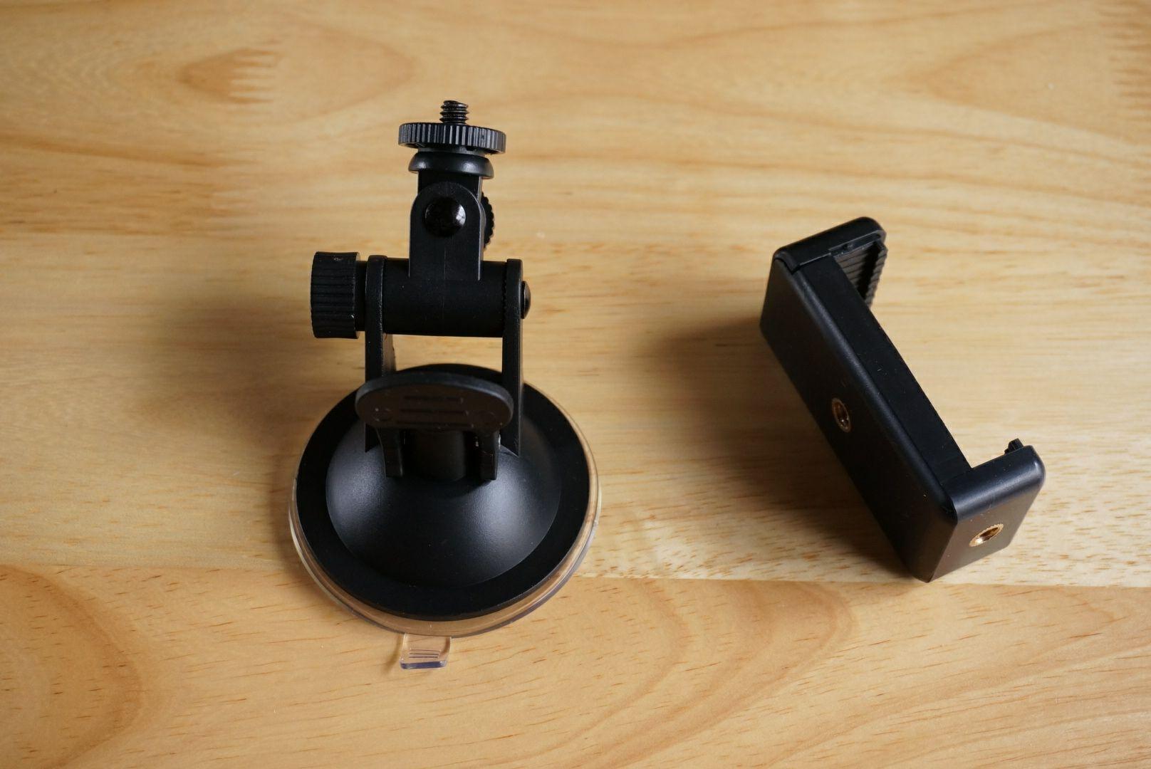 Eco Ride World 車載カメラホルダー スタンド吸盤式マウント CS_009 2WAY Mount