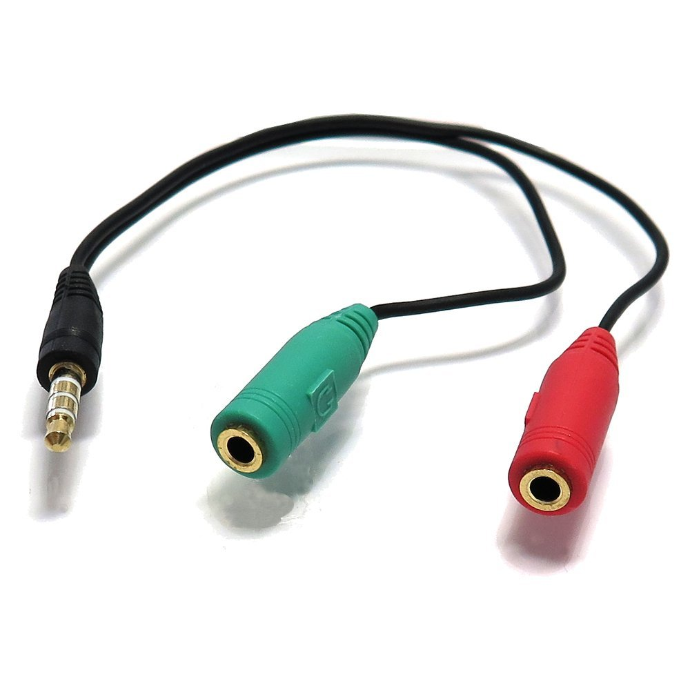 エスエスエーサービス [ スマホやタブレット等のイヤホン端子(3.5mm・4極・CTIA規格)ケーブル ] 3.5mm 4極(オス)-3.5mmステレオミニ(メス)+マイク入力(メス) [15cm] ST35-SM35F